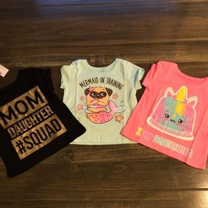 Set of 3 Children's Place T-Shirts Size 12-18 mo